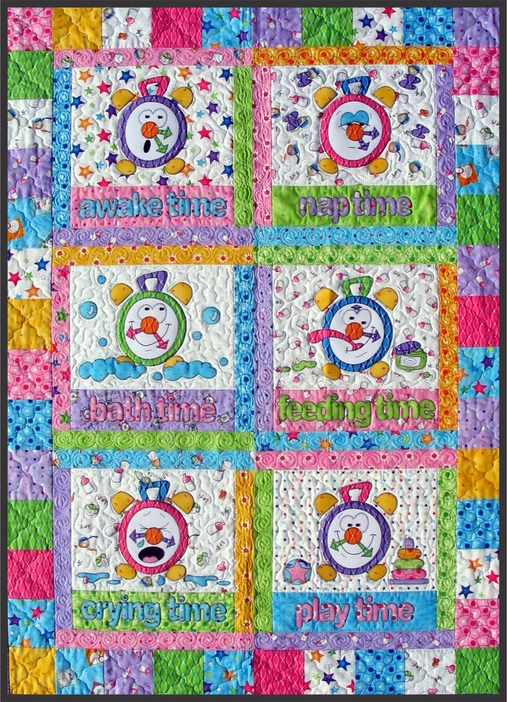 Tick Tock Clocks Quilt