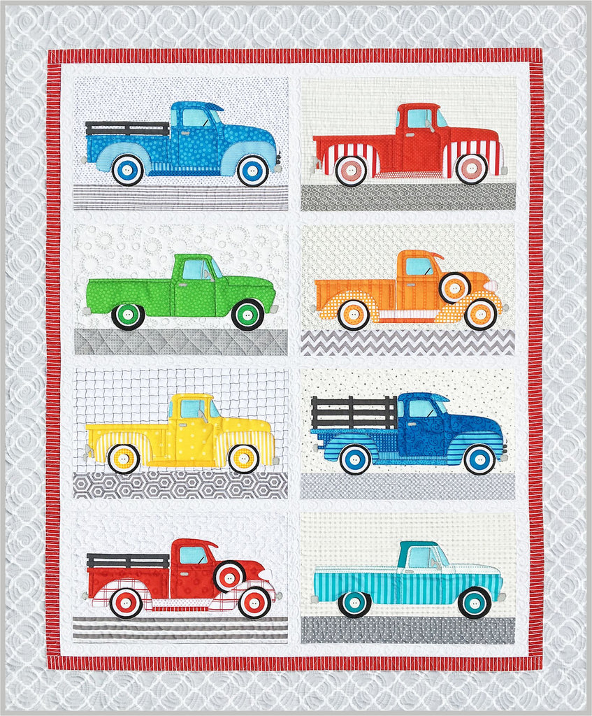 Trucks Fabric Kit & Quilt Pattern