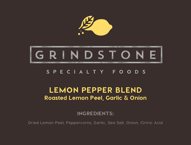 Roasted Lemon Peel, Garlic & Onion Lemon Pepper Blend