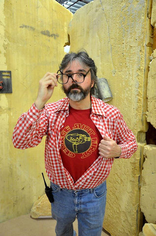George Lucas Cosplayer in the Camera Blaster Tee