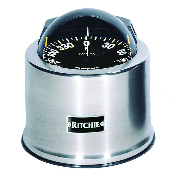 Ritchie SP-5-C GlobeMaster Compass - Pedestal Mount - Stainless Steel - 12V - 5 Degree Card