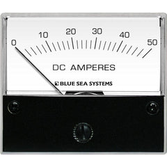 Blue Sea 8022 DC Analog Ammeter - 2-3-4 Face, 0-50 Amperes DC