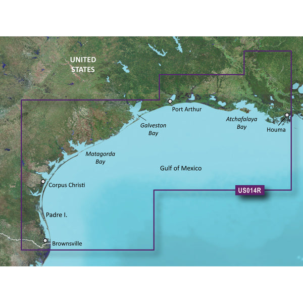 Garmin BlueChart g2 Vision HD - VUS014R - Morgan City to Brownsville - microSD-SD