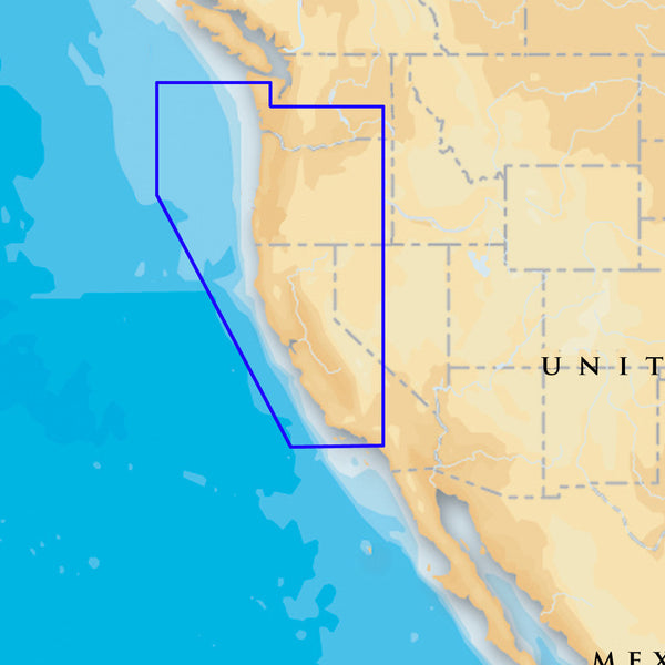 Navionics Platinum+ - Oregon & California - microSD-SD