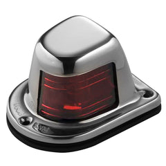 Attwood 1-Mile Deck Mount, Red Sidelight - 12V - Stainless Steel Housing