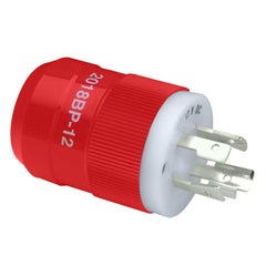 Marinco 2018BP-12 Locking Charger Plug (Male) - Red
