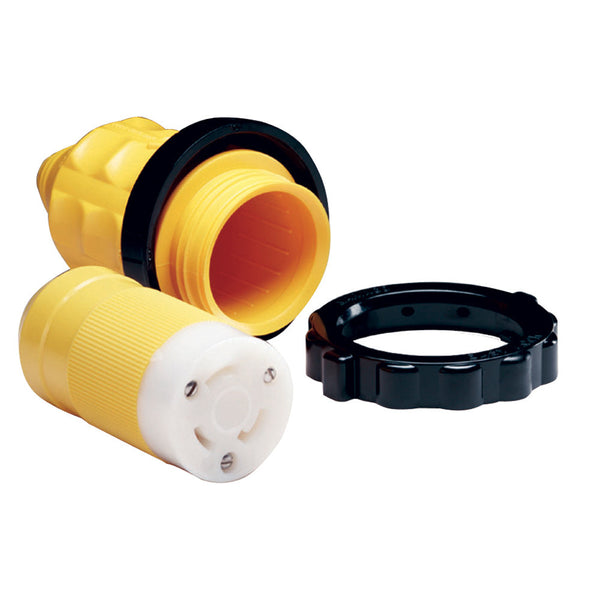 Marinco 305CRCN.VPK 30A Female Connector w-Cover & Rings