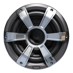 FUSION SL10SPC Signature Series Subwoofer - 450W - Silver-Chrome w-LED Illumination