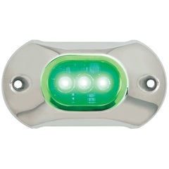 Attwood Light Armor Underwater LED Light - 3 LEDs  - Green