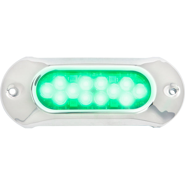 Attwood Light Armor Underwater LED Light - 12 LEDs - Green