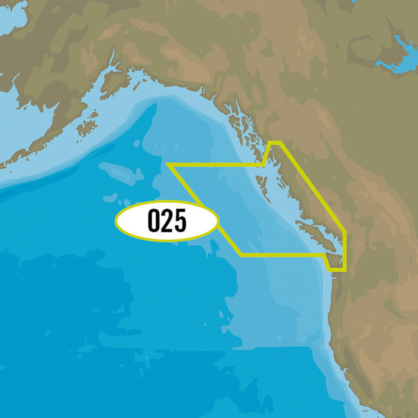 C-MAP MAX-N+ NA-Y025 - Canada West Including Puget Sound