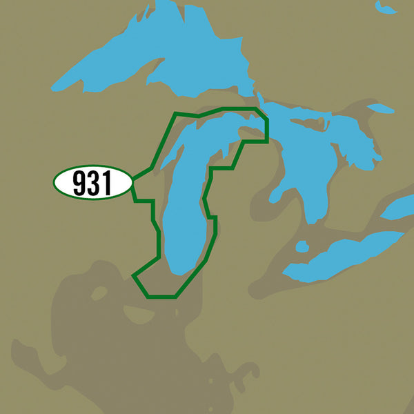 C-MAP MAX-N+ NA-Y931 - Lake Michigan