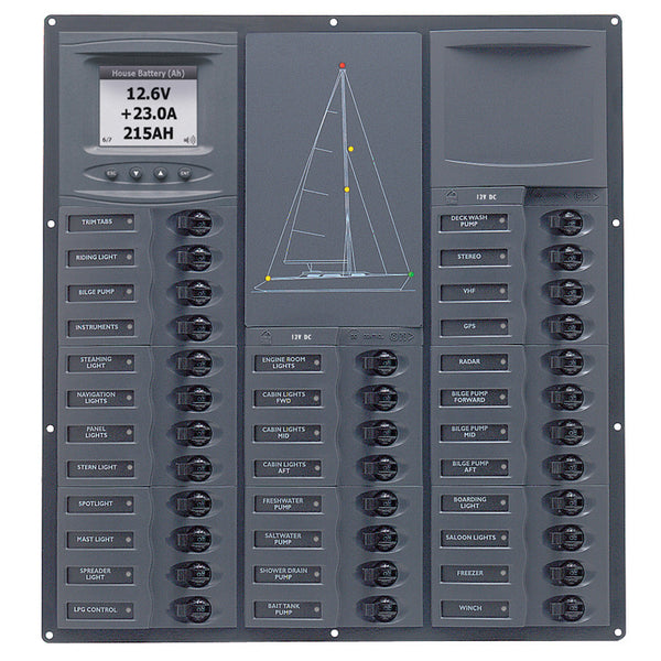 BEP Cruiser Series DC Circuit Breaker Panel w-Digital Meters 32SP DC12V