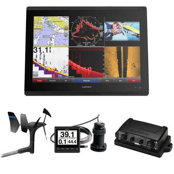 Garmin GPSMAP 8622 Sail Pack w-Wind, Depth & Speed Bundle