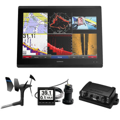 Garmin GPSMAP 8624 Sail Pack w-Wind, Depth & Speed Bundle