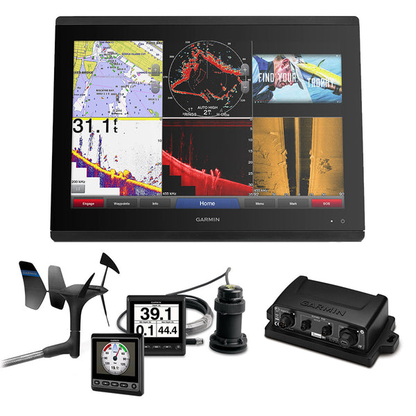 Garmin GPSMAP 8617 Sail Plus Pack w-Wind, Depth & Speed Bundle w-GNX20