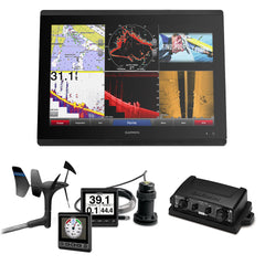 Garmin GPSMAP 8622 Sail Plus Pack w-Wind, Depth & Speed Bundle w-GNX20