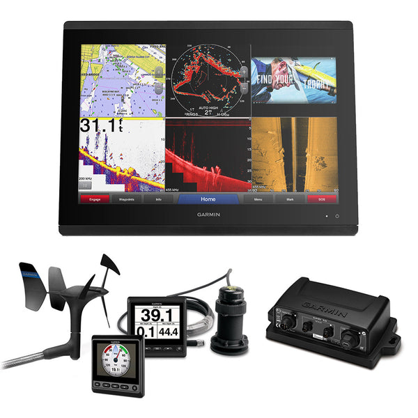 Garmin GPSMAP 8624 Sail Plus Pack w-Wind, Depth & Speed Bundle w-GNX20