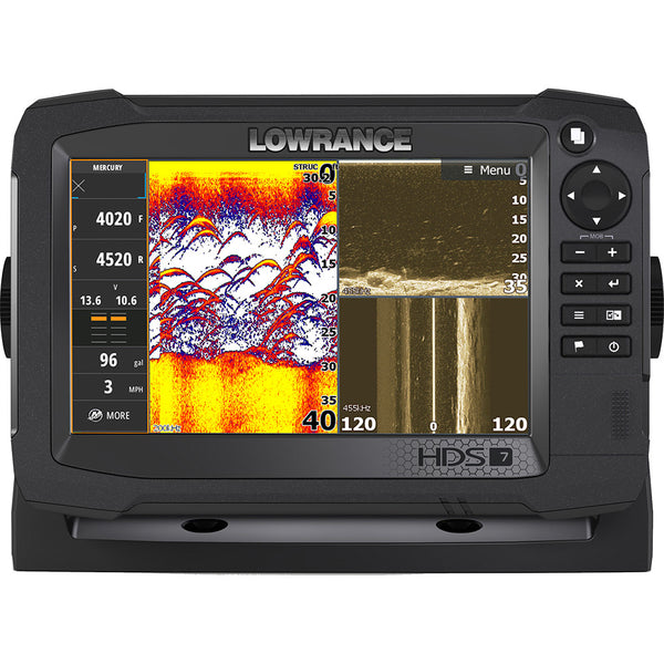 Lowrance HDS-7 Carbon MFD with C-map Insight No Transducer