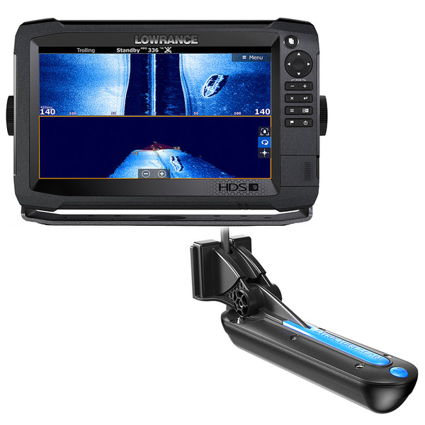 Lowrance HDS-9 Carbon MFD with StructureScan 3D Module and 3D Transom Mount Transducer