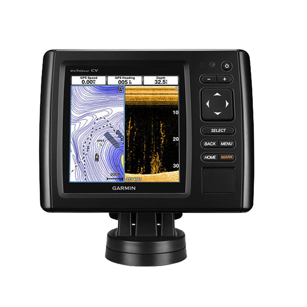 Garmin echoMAP CHIRP 53cv w-US LakeVu HD Maps & High Wide CHIRP 150-240kHz, ClearVu 455-800kHz - 4-Pin