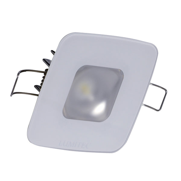 Lumitec Square Mirage Down Light - Spectrum RGBW Dimming - Glass Housing No Bezel