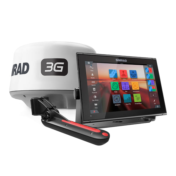 Simrad GO12 XSE Combo Package w-3G Radar  TotalScan Transducer