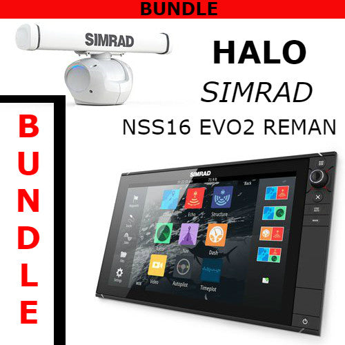 Simrad NSS16 evo2 Reman With Halo 3 Radar Bundle