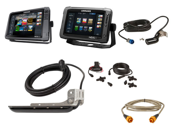 Lowrance *HDS12* / *HDS9 Gen2* Second Station Bundle w/Networking cables