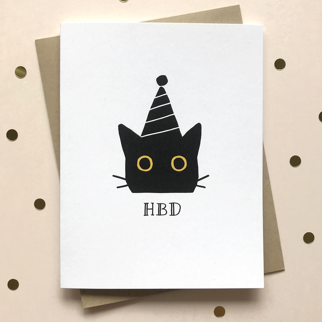 HBD Cat Birthday Card