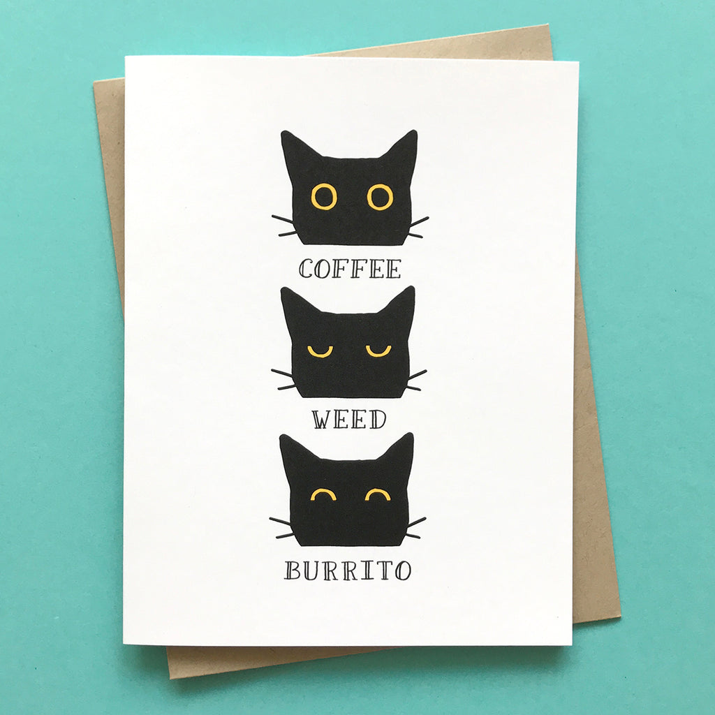 Coffee Weed Burrito Card