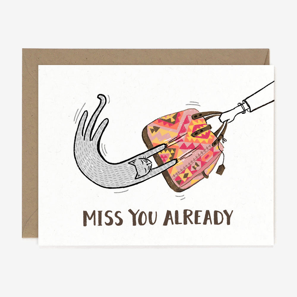 Miss You Already Card, Greeting Cards - Paper Pony Co.