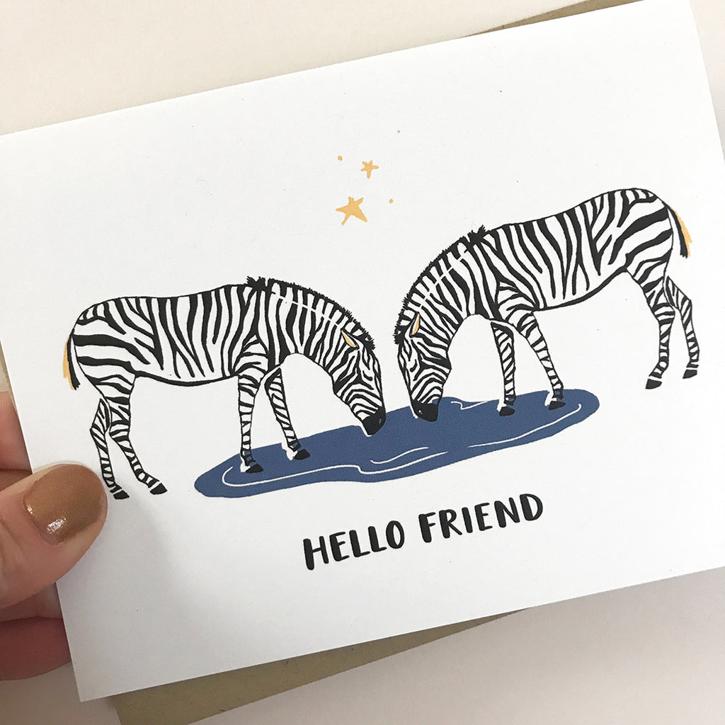 Zebra Friends Card