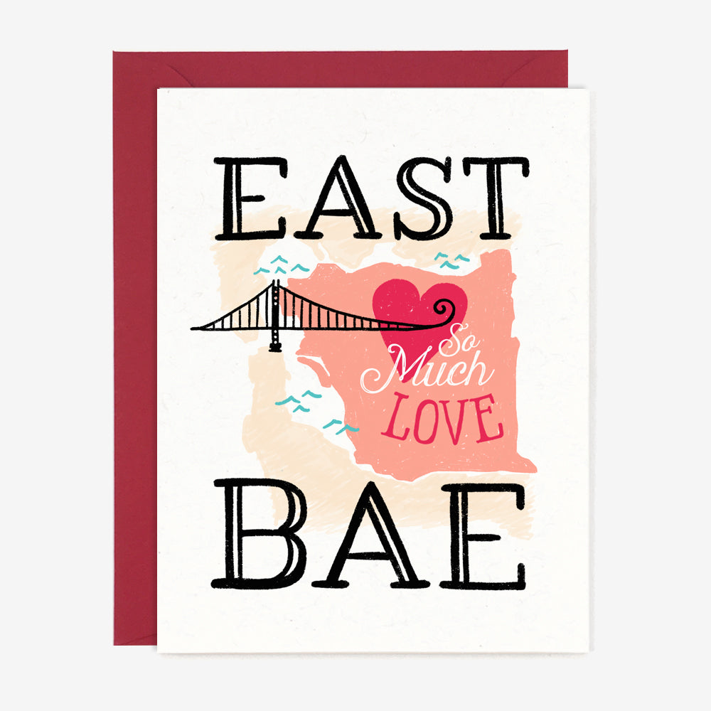 East Bae Love Card, Greeting Cards - Paper Pony Co.