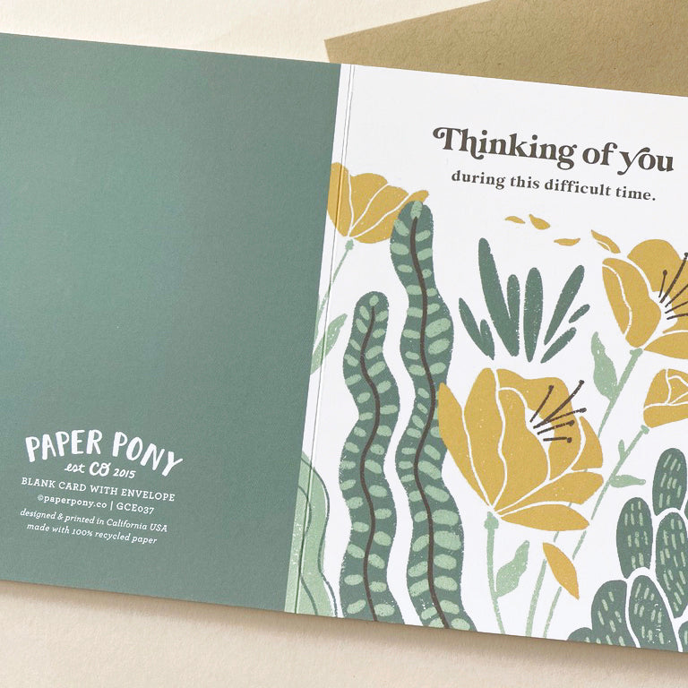 Thinking of You Floral Desert Card