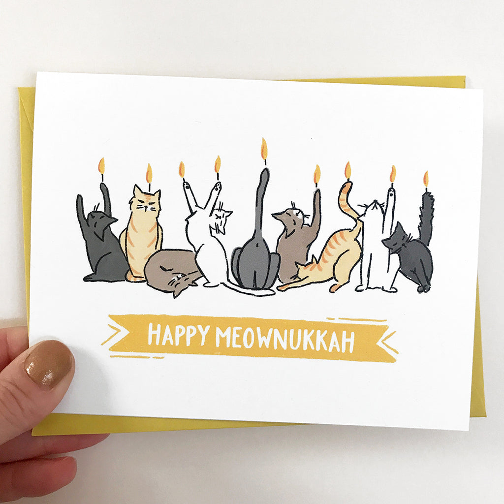 Happy Meownukkah Card