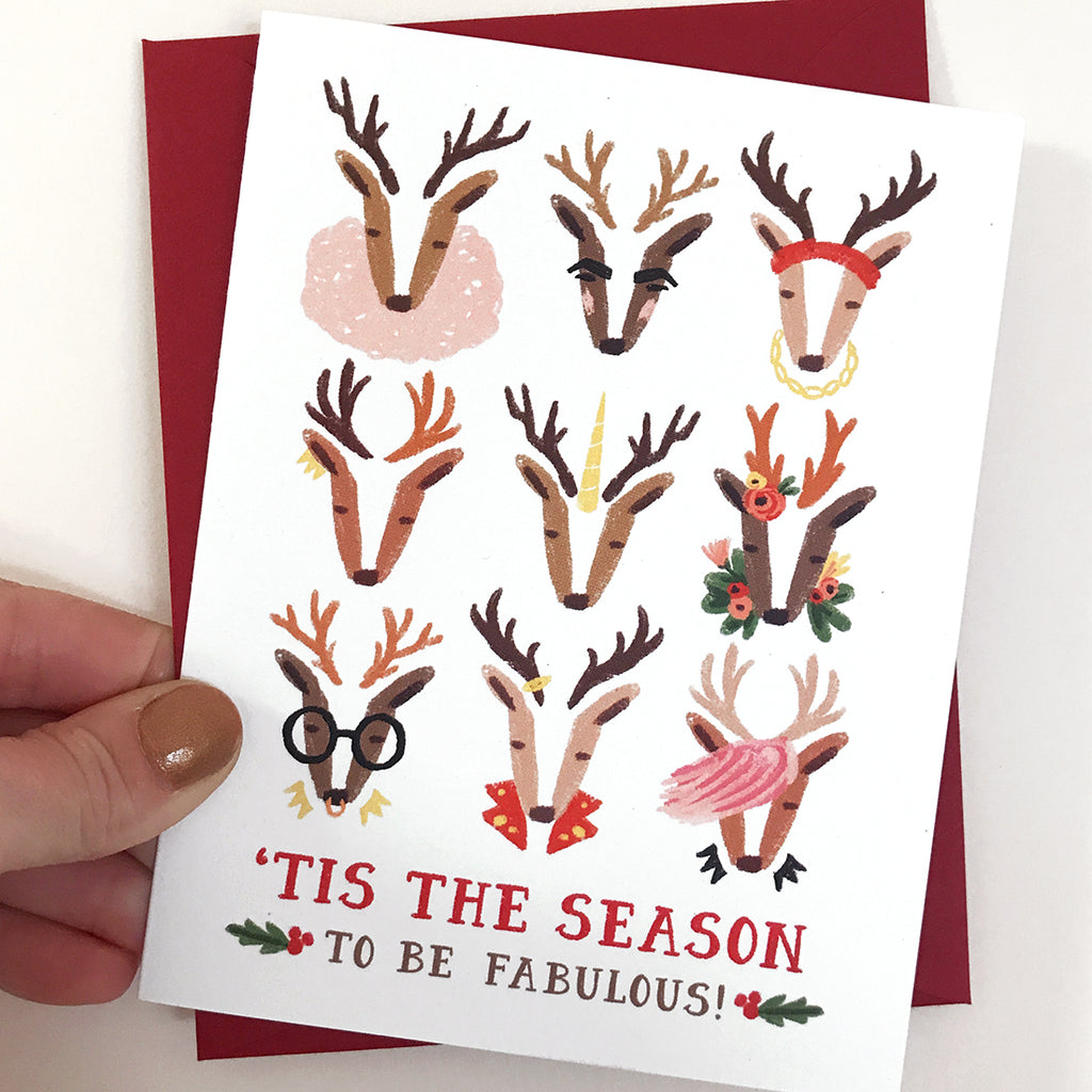 Fabulous Reindeer Card
