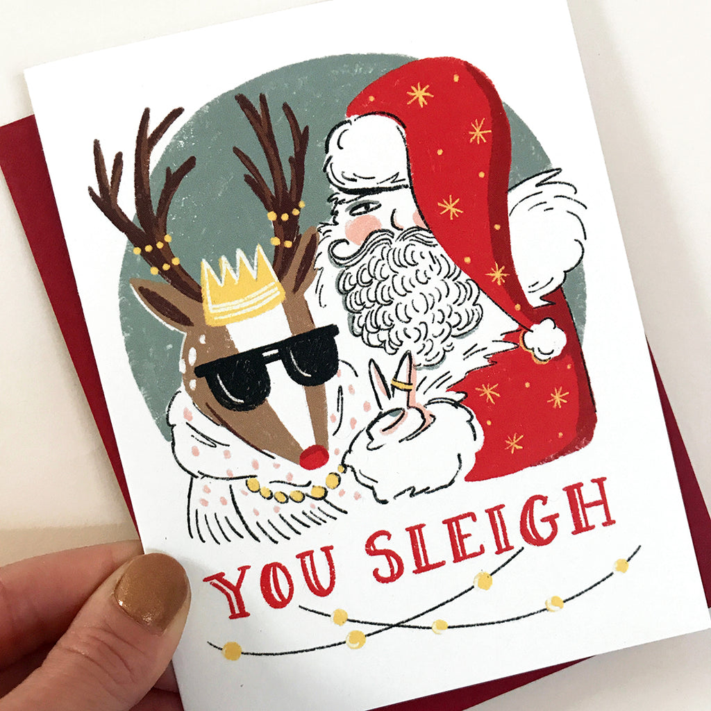 You Sleigh Card