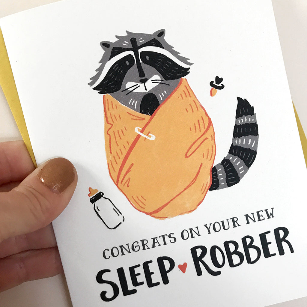 Sleep Robber Baby Card
