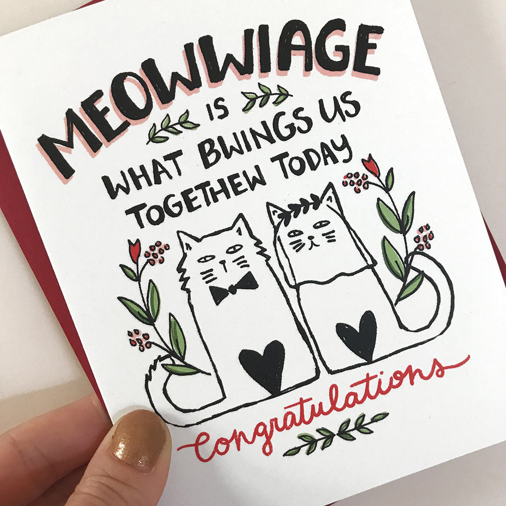 Meowwiage Wedding Card