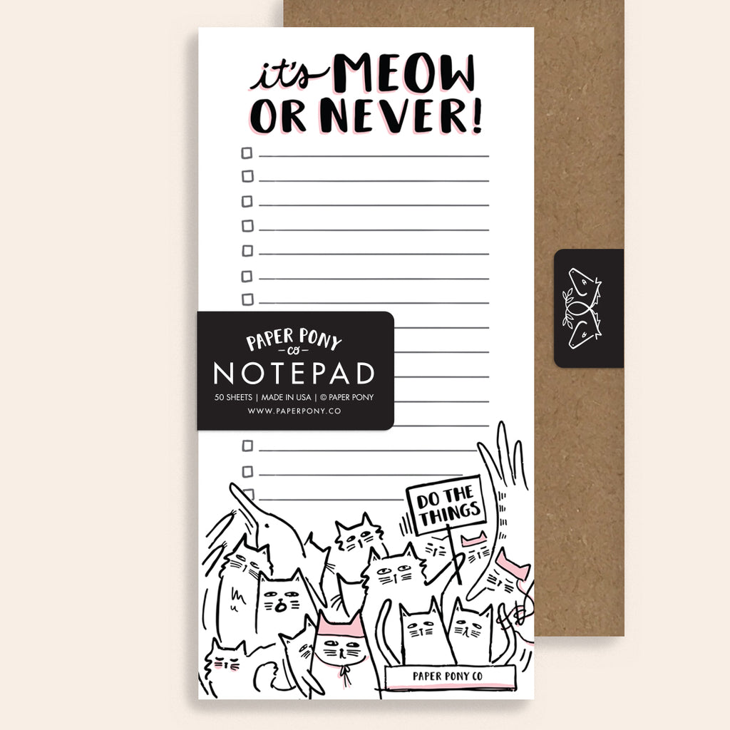 Meow or Never Notepad
