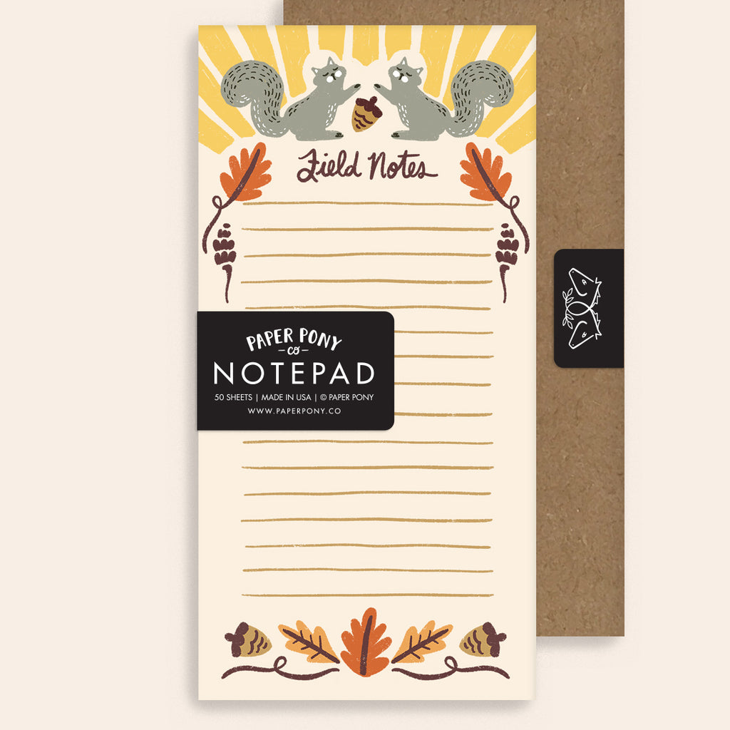 Squirrelly Field Notes Notepad