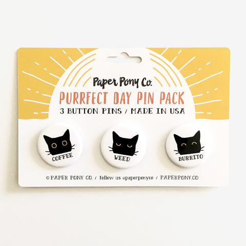 Purrfect Day Pin Pack