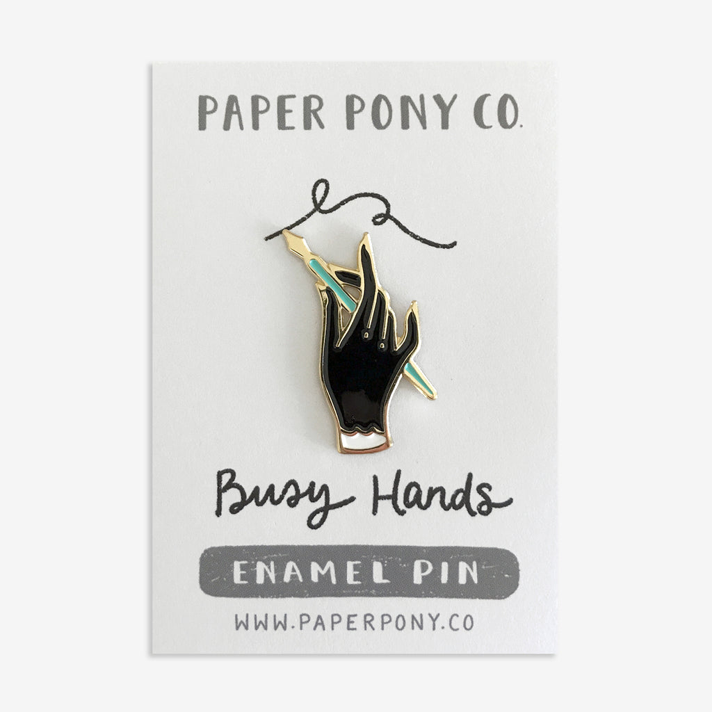 Busy Hands Enamel Pin