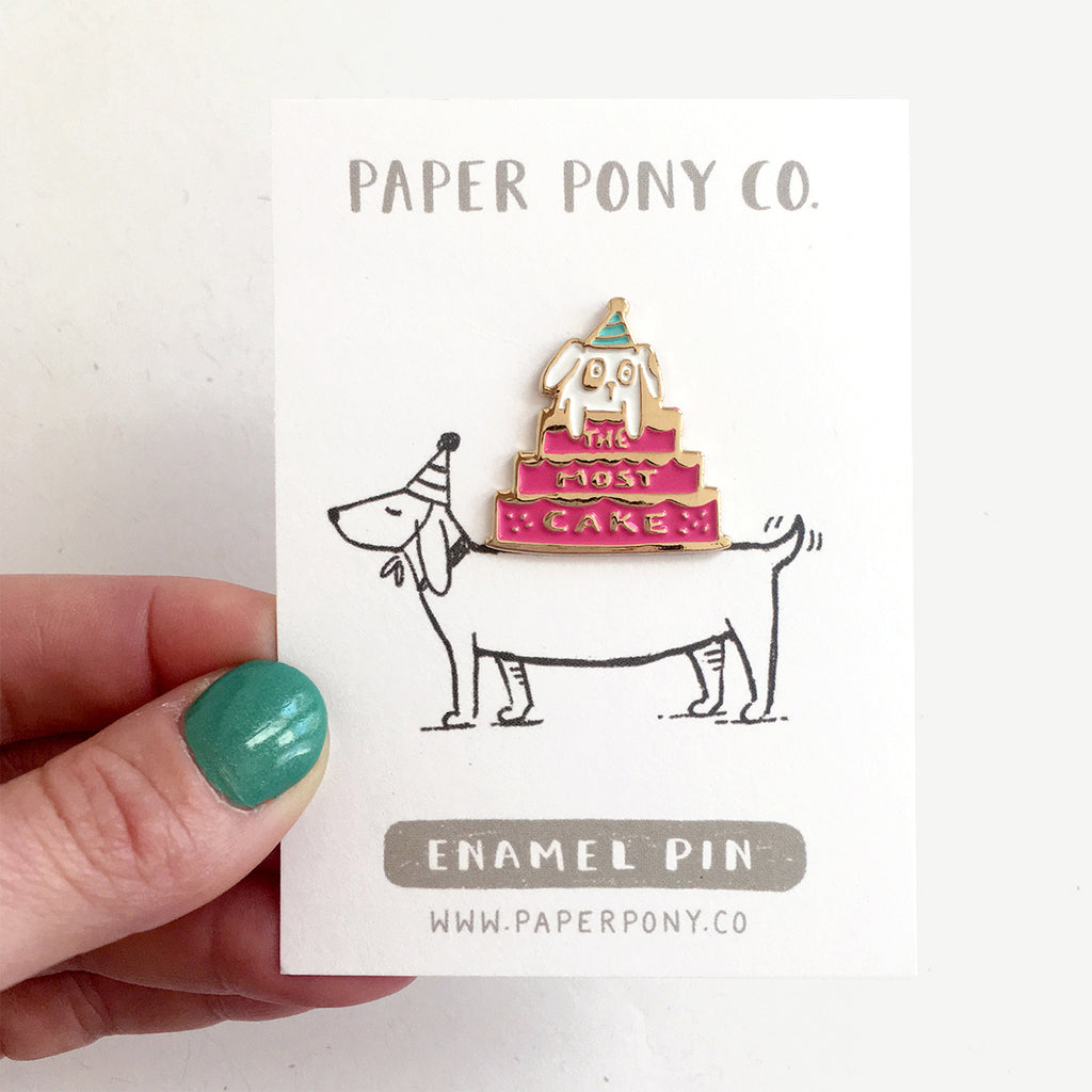 Party Pup Enamel Pin, Enamel Pins - Paper Pony Co.
