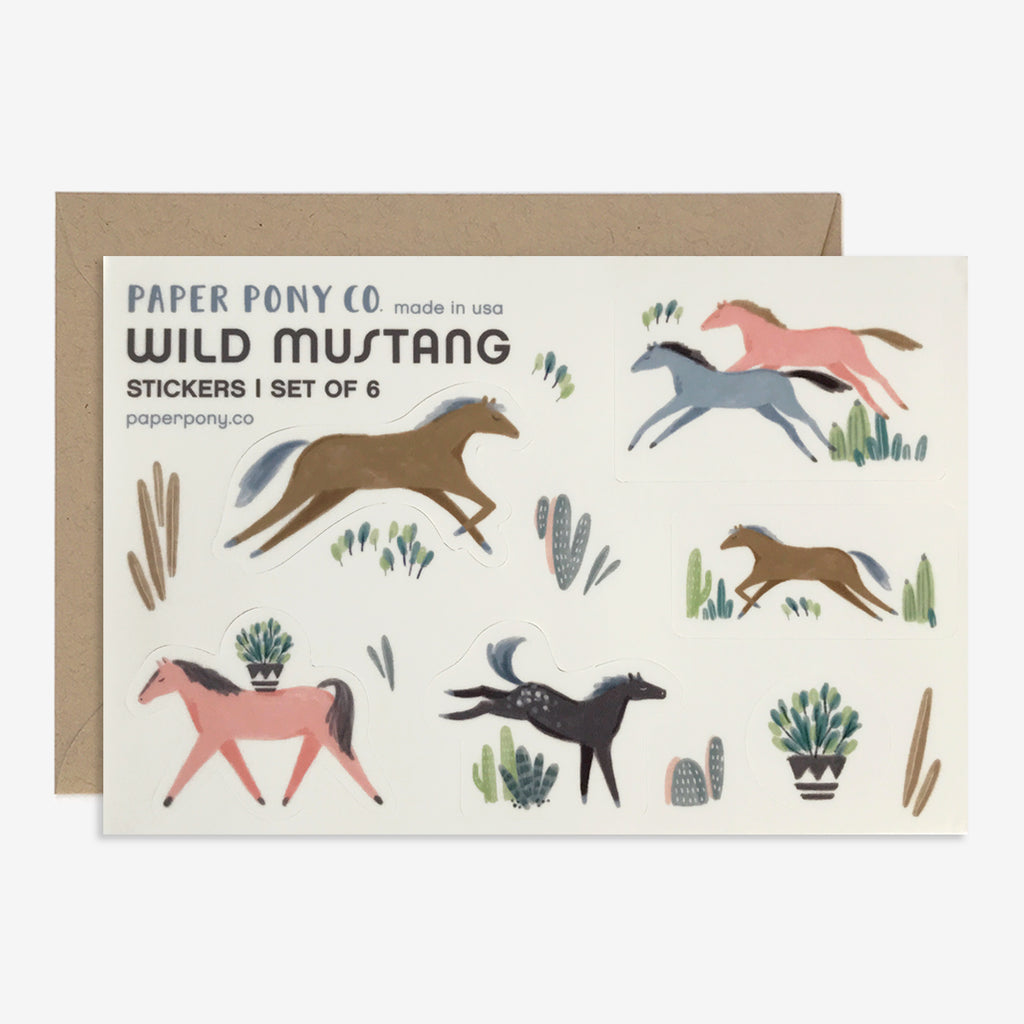 Wild Mustang Stickers