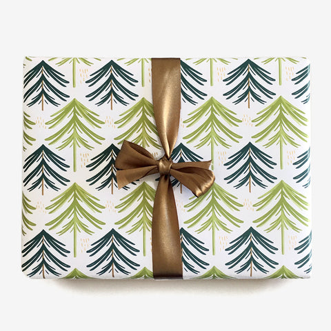 Evergreen Forest Gift Wrap, Gift Wrap - Paper Pony Co.