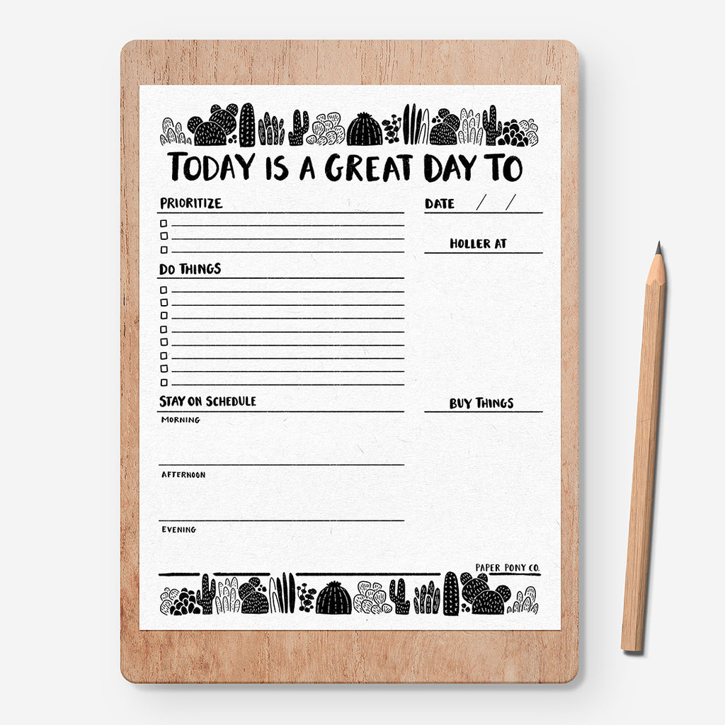 Daily To-Do Digital File, Free Gifts - Paper Pony Co.