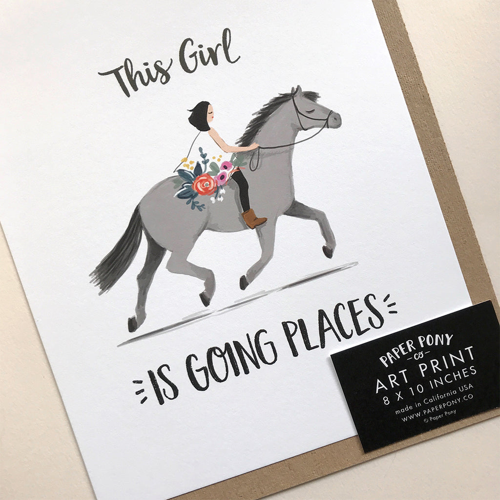 Going Places Pony Art Print