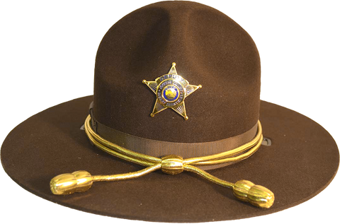 Brown Felt Triple Brim